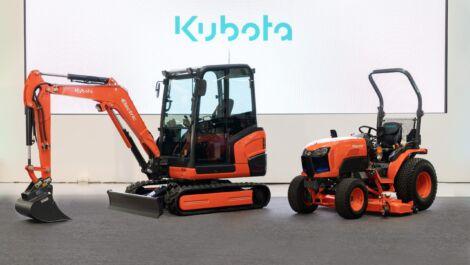 Kubota präsentiert Maschinen mit Elektroantrieb