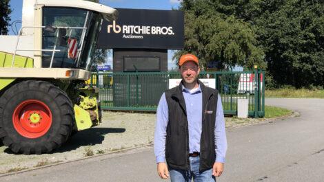 Enrico Sieber wird neuer Regionalvertriebsleiter von Ritchie Bros.
