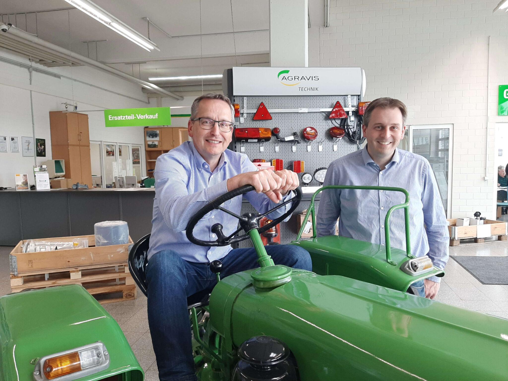 Agravis Technik GmbH Geschäftsführer Holger Poplilas, Nikolas Bösch|copyright: Werkbild