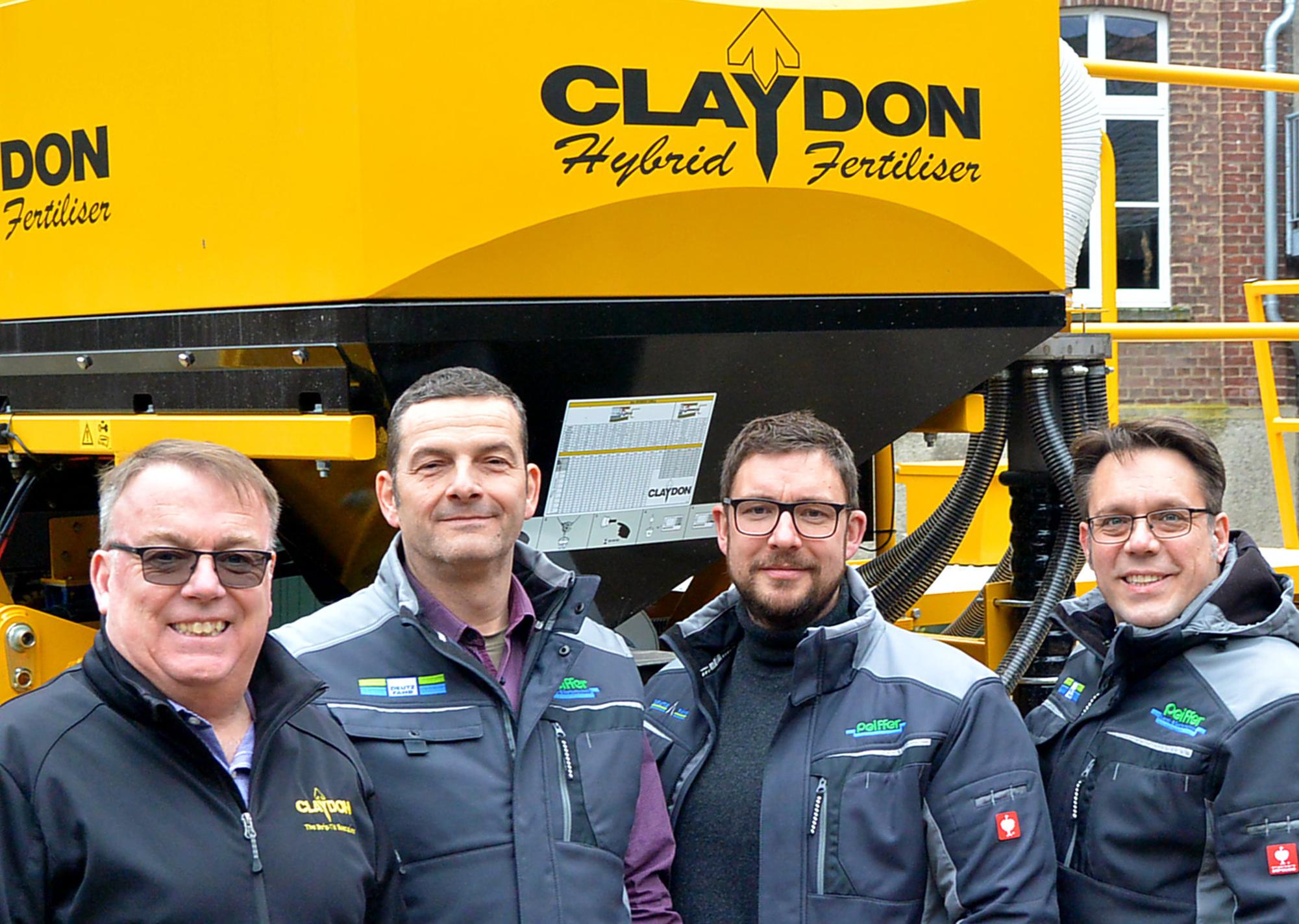 Das Claydon Vertriebsteam für Deutschland. (v.L Simon Revell, Markus Vogler, Sebastian Ständer, Erik Peiffer)|copyright: Claydon