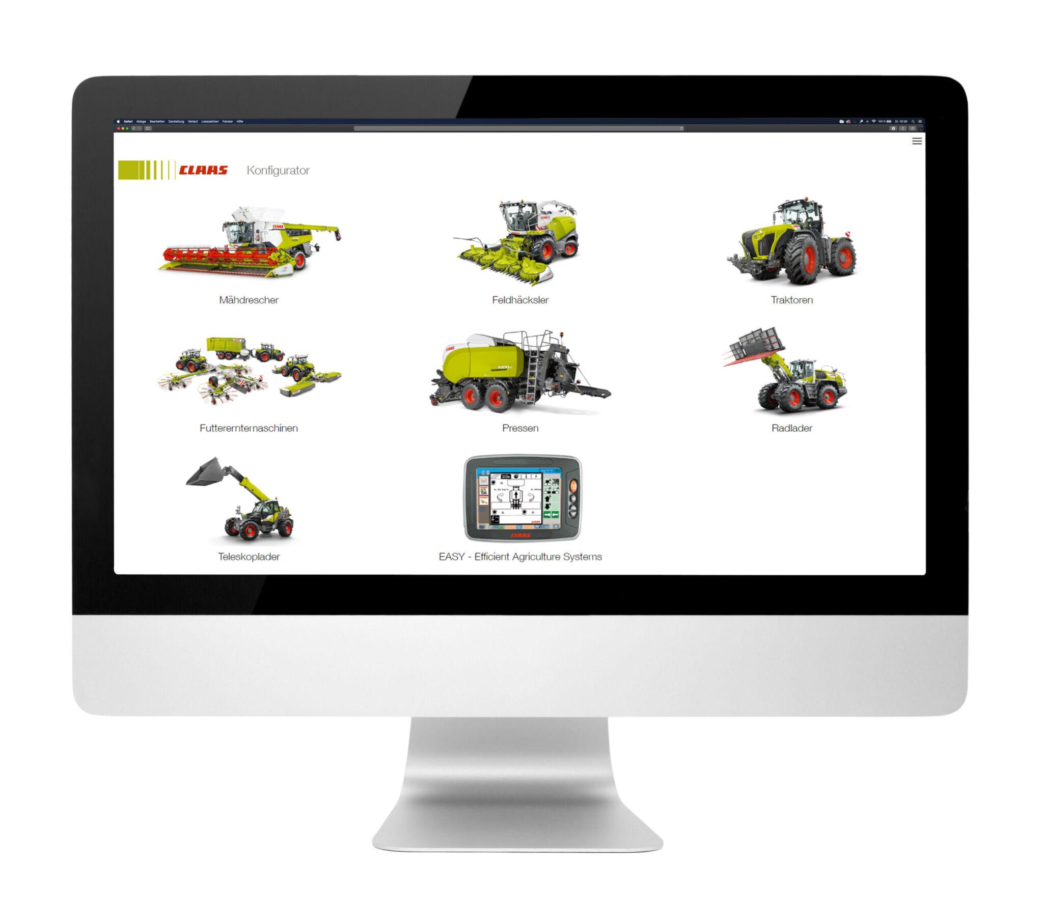 Claas Produktkonfigurator IMac|copyright: Werkbild