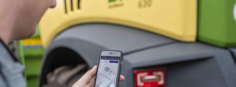 Neue agroparts Mobile App für Krone Maschinen