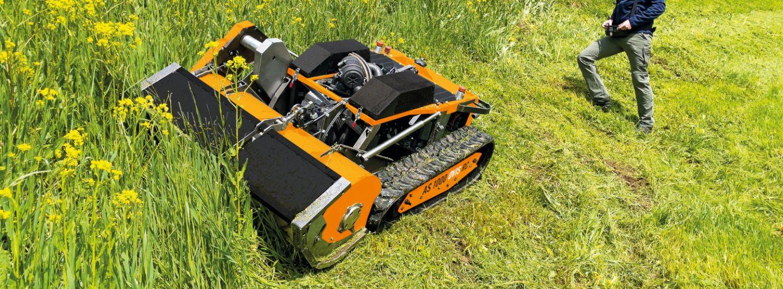 AS-Motor präsentiert ferngesteuerte Mähraupe