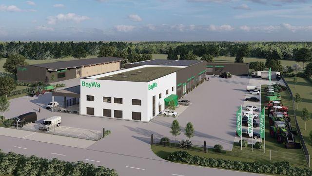 BayWa Planungsgrafik des neuen Standortes in Forchheim / Mfr.