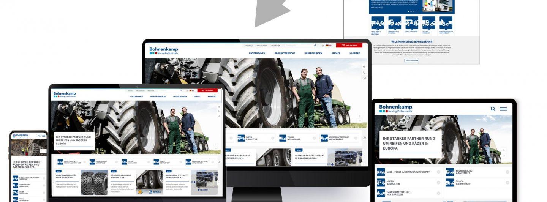 Bohnenkamp Homepage im neuen Look