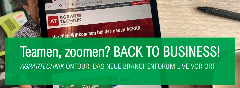 AGRARTECHNIK ONTOUR – das neue Branchenformat