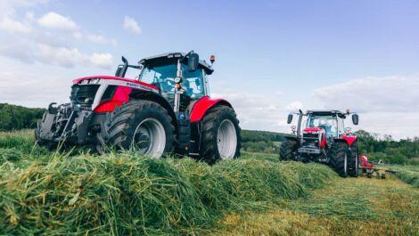 Massey Ferguson führt Traktorbaureihen 6S und 7S ein. 8S bis über 300 PS
